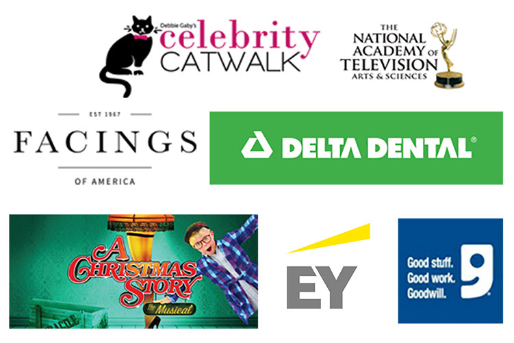 Debbie Gaby, NATAS, Facings of America, Delta Dental, A Christmas Story, Ernest&Young, and Goodwill