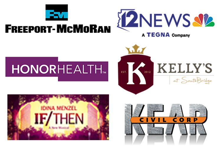 Freeport-McMoran, 12 News, Honor Health, Kellys at Southbridge, If/Then Musical, and Kear Civil